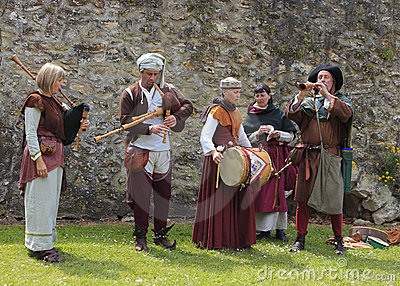 Medieval band Editorial Stock Image