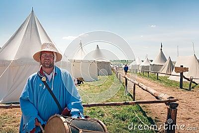 Medieval Bard Editorial Photo