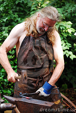 Medieval Blacksmith Editorial Image