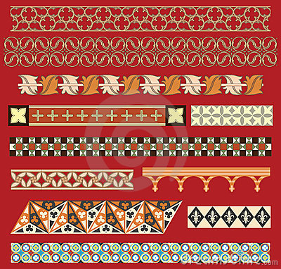 Free Medieval Border Ornaments Stock Image - 21636611
