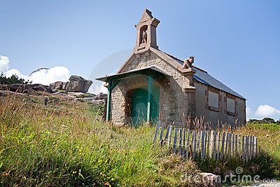 Medieval  Breton house in Brittany