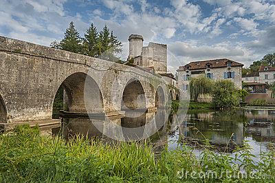 Medieval bridge in France