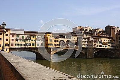 Medieval bridge Ponte Vecchio in Florence