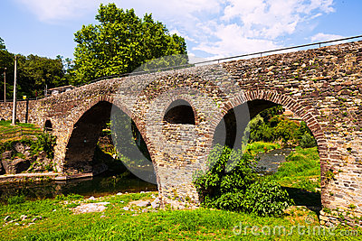 Medieval bridge in Sant Joan les Fonts