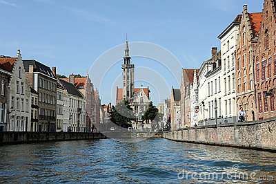 Medieval Brugge Editorial Stock Photo