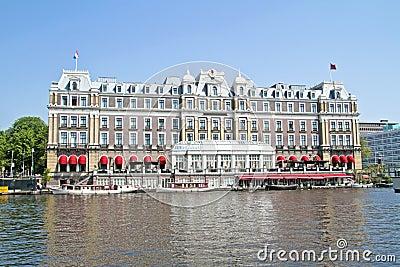 Medieval building in Amsterdam Netherlands