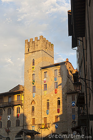 Medieval buildings in Arezzo (Tuscany, Italy)
