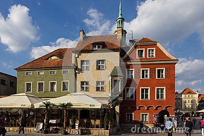 Medieval buildings in Market Square. Poznan. Poland