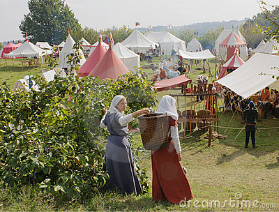 Medieval camp Editorial Image