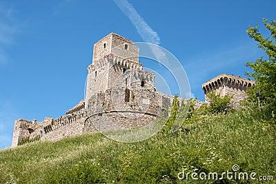 Medieval castle of Assisi (Rocca Maggiore)