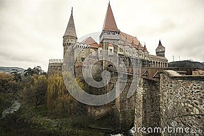 Medieval castle, with bridge & moat