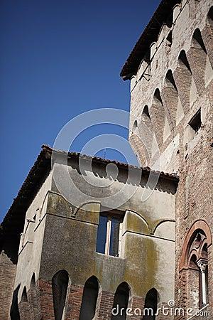 Medieval castle, details