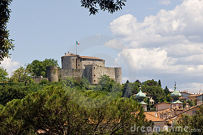 Medieval castle on a hill