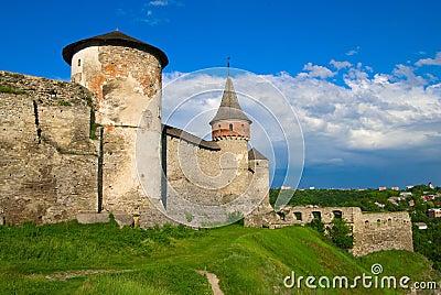 Medieval castle in Kamenetz-Podolsk
