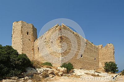 Medieval Castle of Kritinia in Rhodes Greece