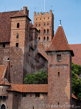 Medieval castle in Malbork Stock Photo