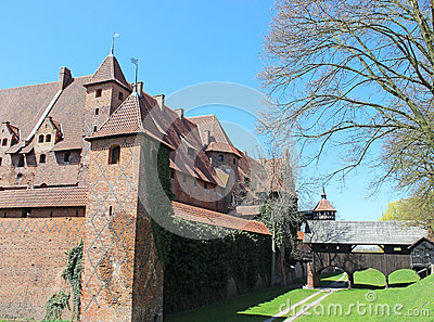 Medieval castle in Malbork / Marienburg. Poland