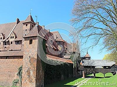 Medieval castle in Malbork / Marienburg. Poland