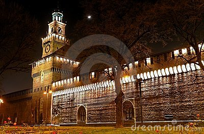 Medieval castle at night (7)