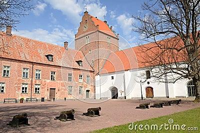 Medieval castle porch