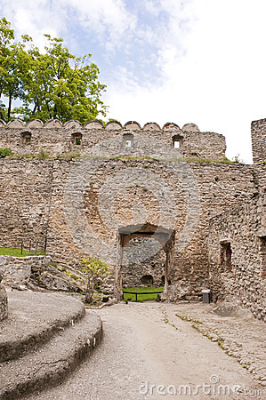 Medieval castle yard