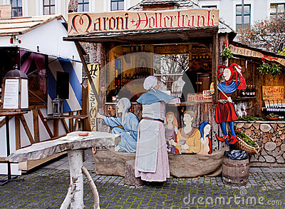 Medieval Christmas market, Munich Germany Editorial Image