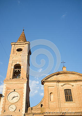 Medieval church in the city of Caldarola in Italy