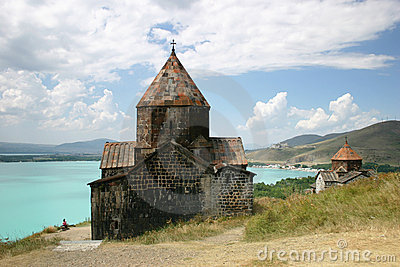 Medieval church on Sevan lake