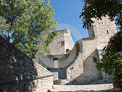 Medieval city of Le Poet Laval Drome France
