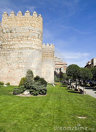 Medieval City Walls in Avila, Spain