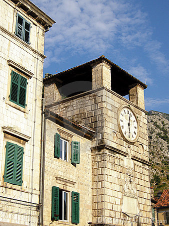 Medieval clock tower(Kotor, Montenegro)