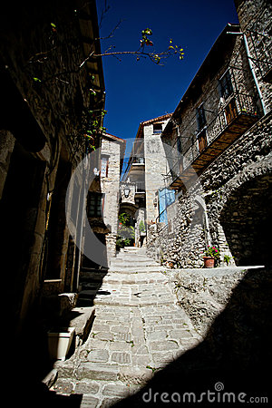 Free Medieval Cobbled Street In Peille, Cote D Azur Stock Photography - 40919152