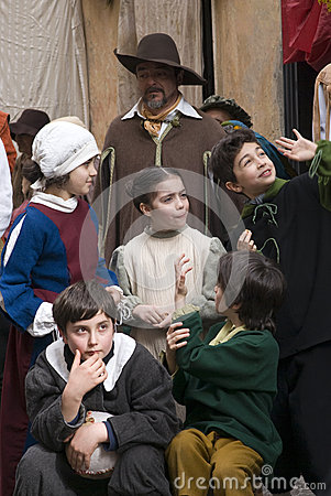 Medieval costume party Editorial Image