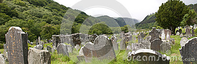 Medieval country graveyard
