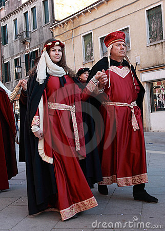 Medieval couple Editorial Stock Image