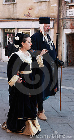 Medieval couple Editorial Photography
