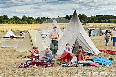 Medieval craftsmen village Editorial Photography