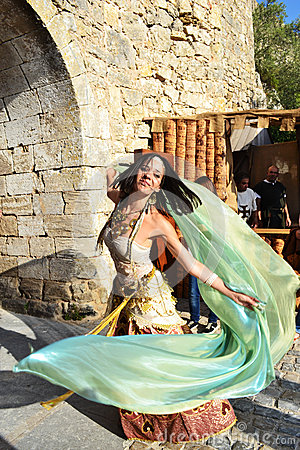 Medieval Dancer Editorial Photography