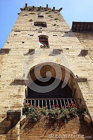 Medieval Devil Tower San Gimignano Italy
