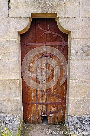 Medieval door, Rocamadour, France