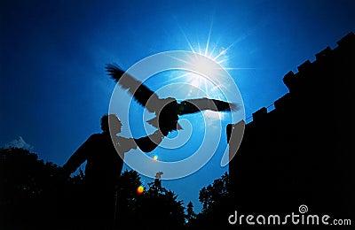 Medieval eagle hunter