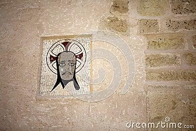 Medieval emblem in the Castle of Santa Bárbara,