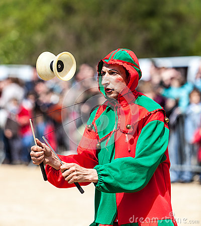 Medieval Entertainer Editorial Stock Image
