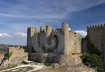 Medieval European Fortress with towers