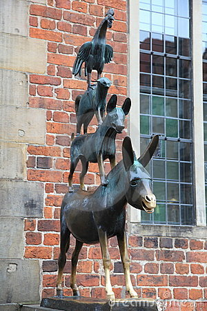 Medieval fairy tale statue in Bremen, Germany