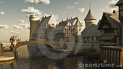 Medieval or Fantasy Docks