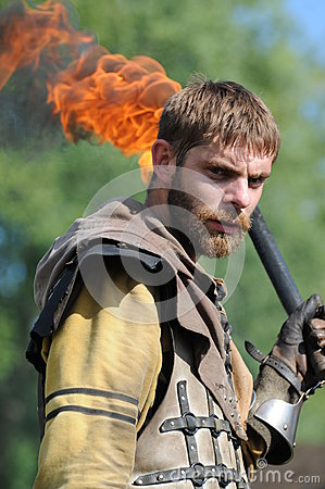 Free Medieval Fighter With Torch Royalty Free Stock Images - 32818609