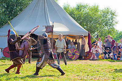 Medieval fights Editorial Stock Image