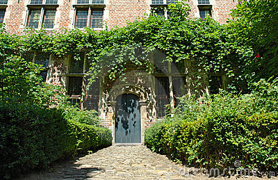 Medieval Flemish house facade
