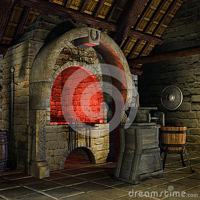 Medieval Forge Stock Images Image 30157914